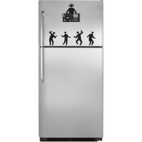 наклейка на холодильник - DJ