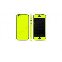 Наклейка на IPhone желтая сверхъяркая флуоресцентная