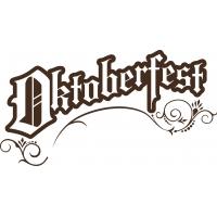 Октоберфэст - наклейка надпись к Oktoberfest