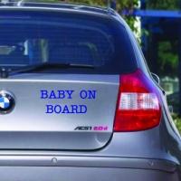 Baby on board - наклейка на авто