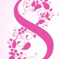 Цветы - наклейка на 8 марта
