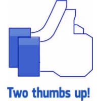 Two thumbs up, Facebook наклейка