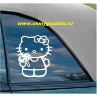 Hello Kitty Subaru наклейка