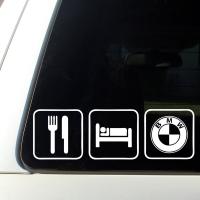 Наклейка BMW - Eat, sleep, BMW