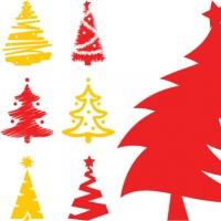 .Елочки 2 - набор новогодних наклеек