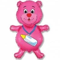 Медвежонок - шар на выписку девочке - 81см