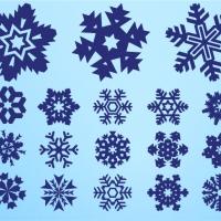 .Набор наклеек-снежинок 2