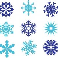 .Набор наклеек-снежинок 3