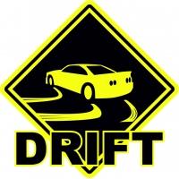 Drift, наклейка