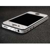 Наклейка на IPhone белый карбон 3D.