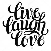 Live Laugh Love - наклейка