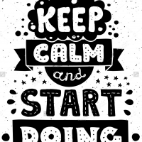Keep calm and start doing - наклейка