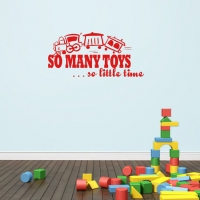 So many toys... So little time - наклейка