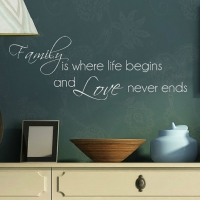 FAMILY where life begins and love never ends - 3 - наклейка