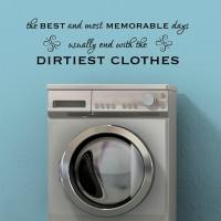 Dirty clothes - наклейка