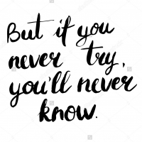 But if you never try, you will never know - наклейка