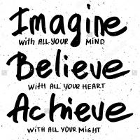 Imagine Believe Achieve - наклейка